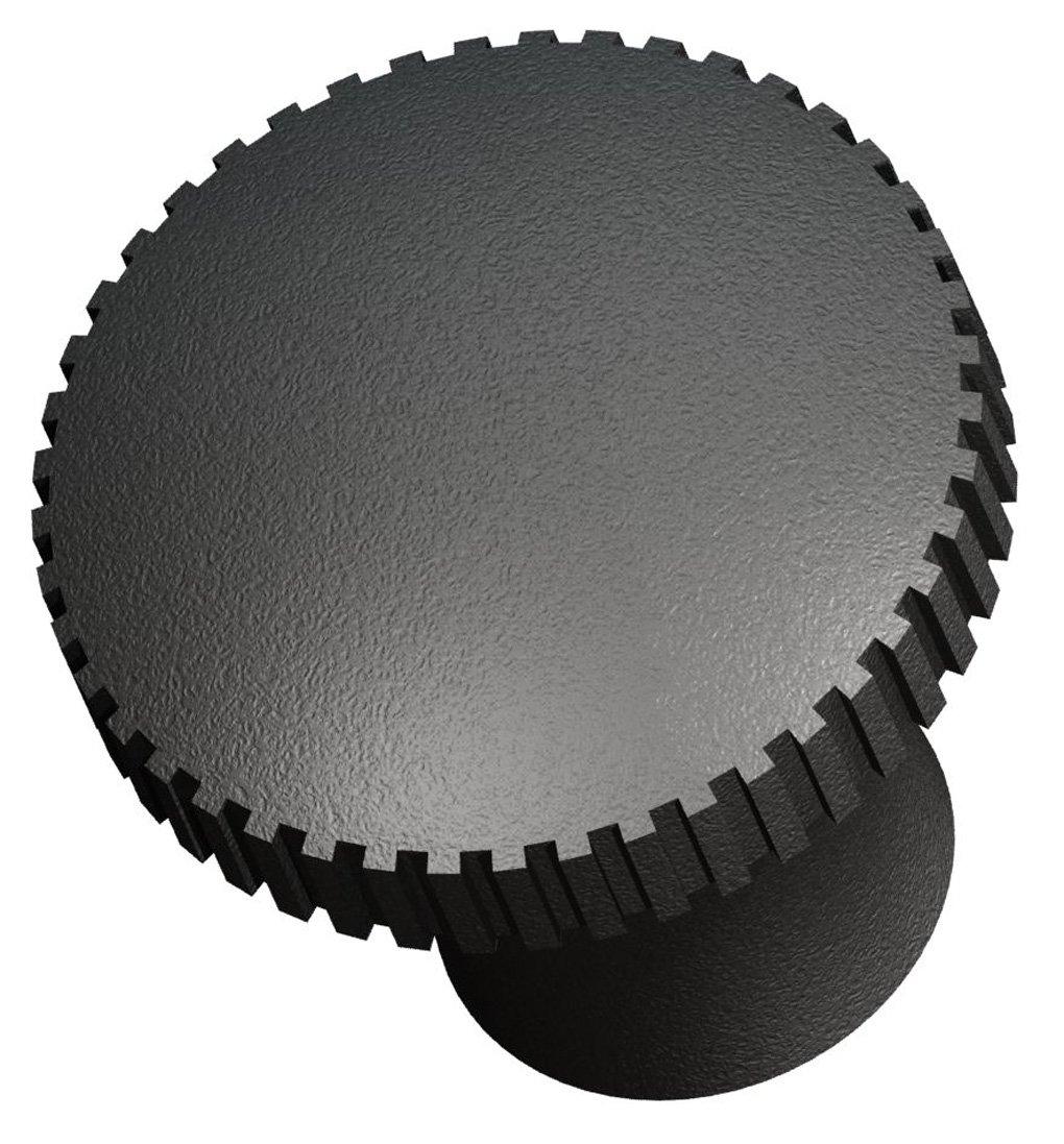 Innovative Components AN4C-PL4L-21 1.00'' Pull knob blind 1/4-20 steel zinc locknut black pp (Pack of 10)