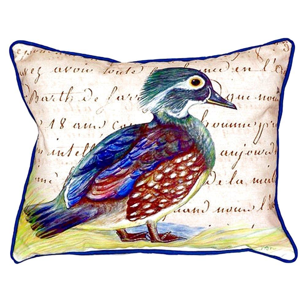 Betsy Drake SN149B Female Wood Duck Script Pillow,,11'' X14''