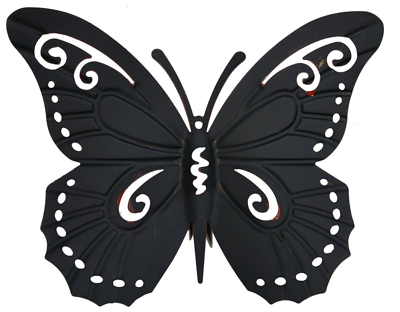 Amazon.com : Metal Butterfly Wall Decor - Colored Metal Butterflies ...