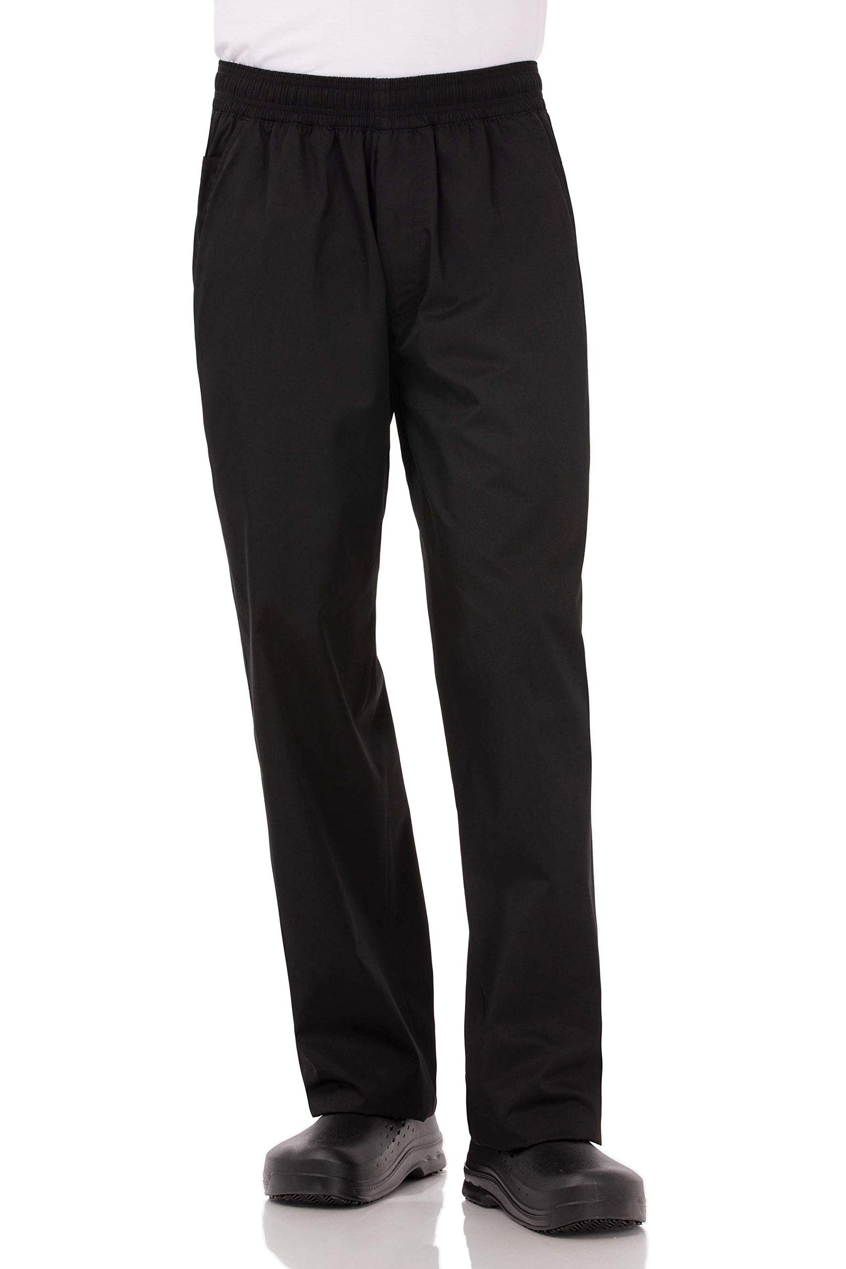 Chef Works Men's Lightweight Baggy Chef Pants, Black, Large by Chef Works