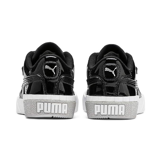 Puma Cali Patent PS Blk, Scarpe da Ginnastica Bambina