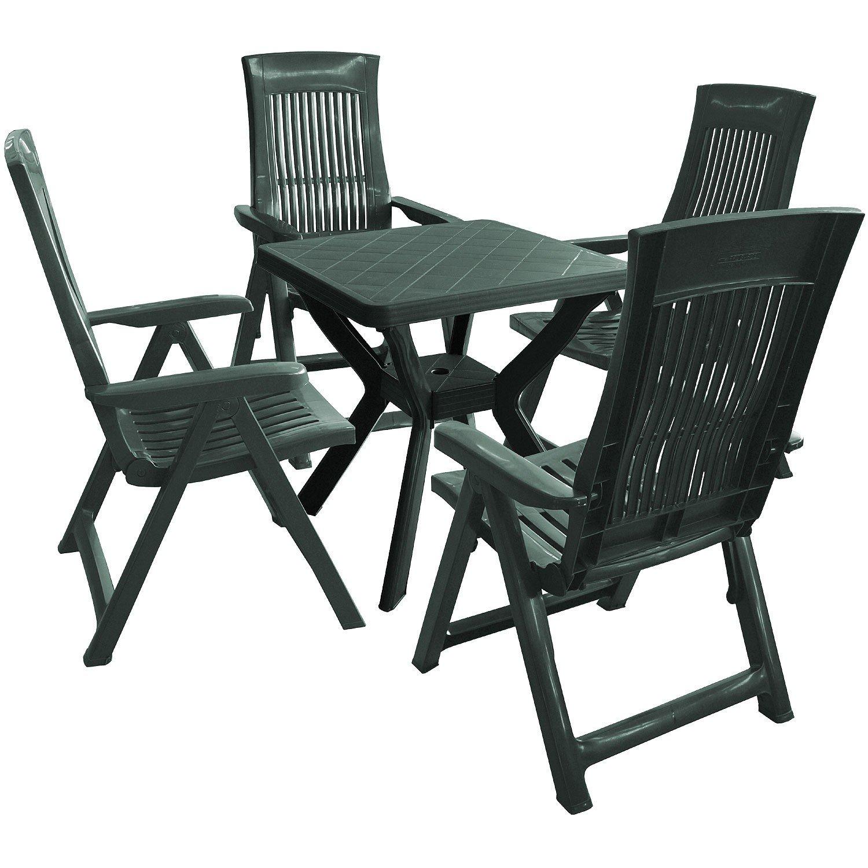 5tlg Garnitur Balkonset Gartenmöbel Sitzgruppe Kunststoff