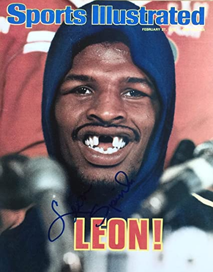 Leon Spinks autographed 8x10 photo #1 (SI COVER) at Amazon's ...