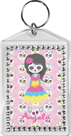 Kids Sugar Skulls Bling Keychain (Personalized) at Amazon Women s ... adc9b5475c