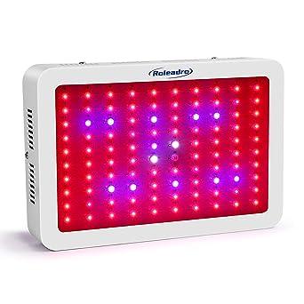 Roleadro LED Cultivo 450w Lampara Cultivo Talla Grande,Focos CultivoLuces LED Grow con La luz