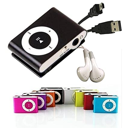 Mini Clip MP3 Player Inklusive Kopfhorer Und Amazonde Elektronik