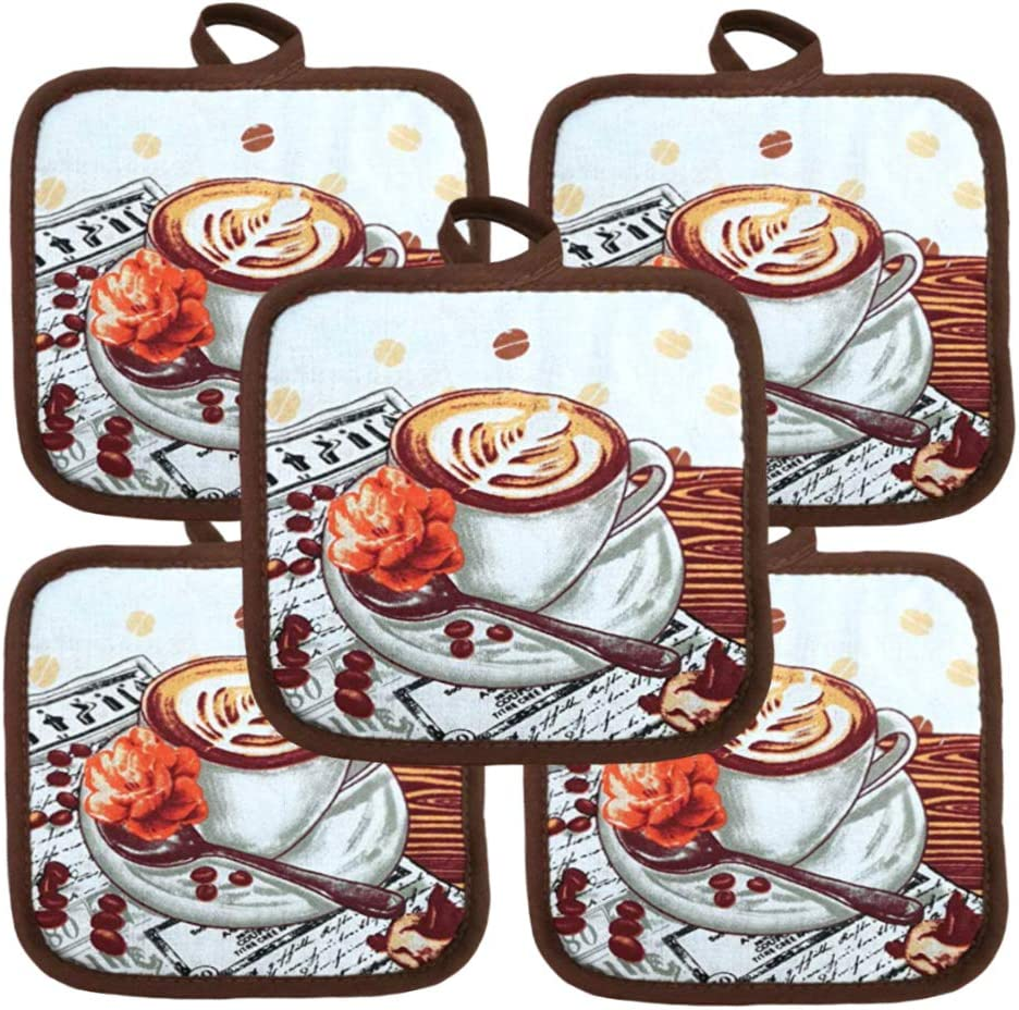 Ten 10 Pack Pot Holders 6.5 Square Solid Color Everday Quality Kitchen Cooking Chef Linens Farm Rooster