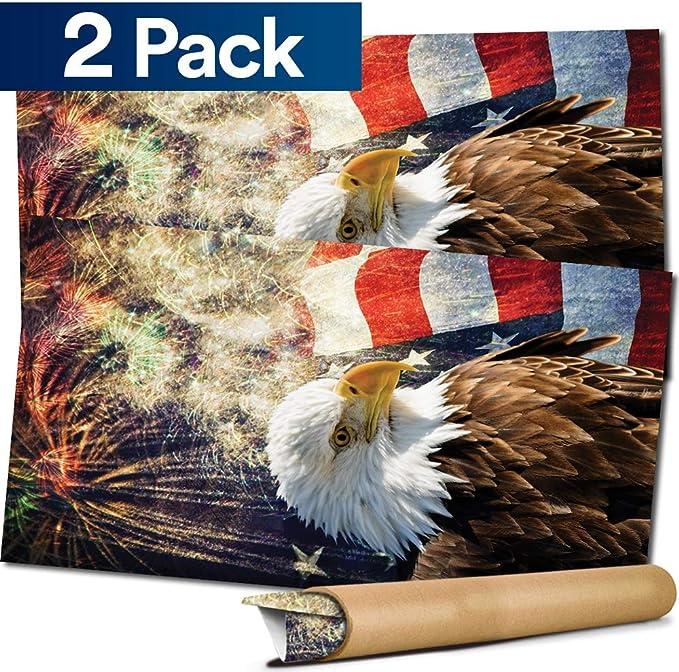 Ghost Eagle Tear Cornhole Wrap Bag Toss Decal Baggo Skin Sticker Wraps Laminated or Non Laminated