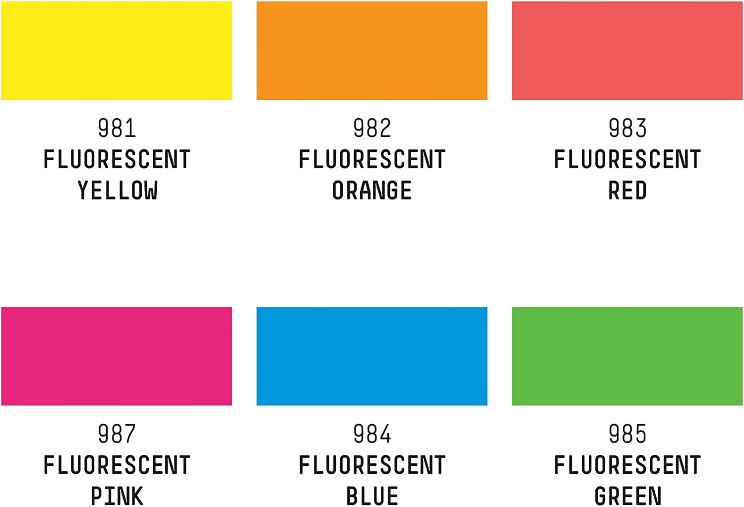 3 x Bi-Colour Fluo Pink and Fluo Yellow Blobs.
