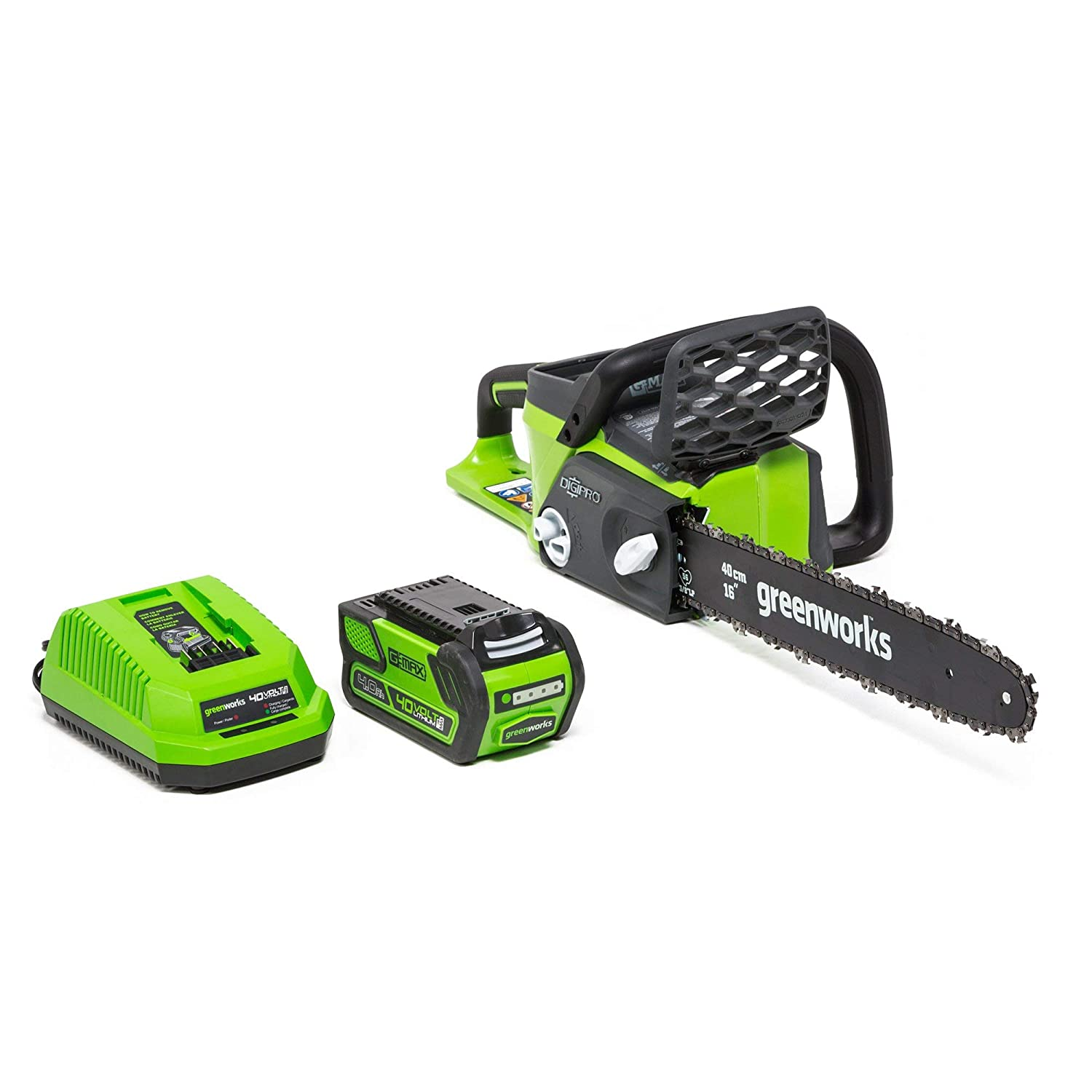 Greenworks 16-Inch 40V Cordless Chainsaw, 4.0 AH Battery Included 20312 (Renewed)