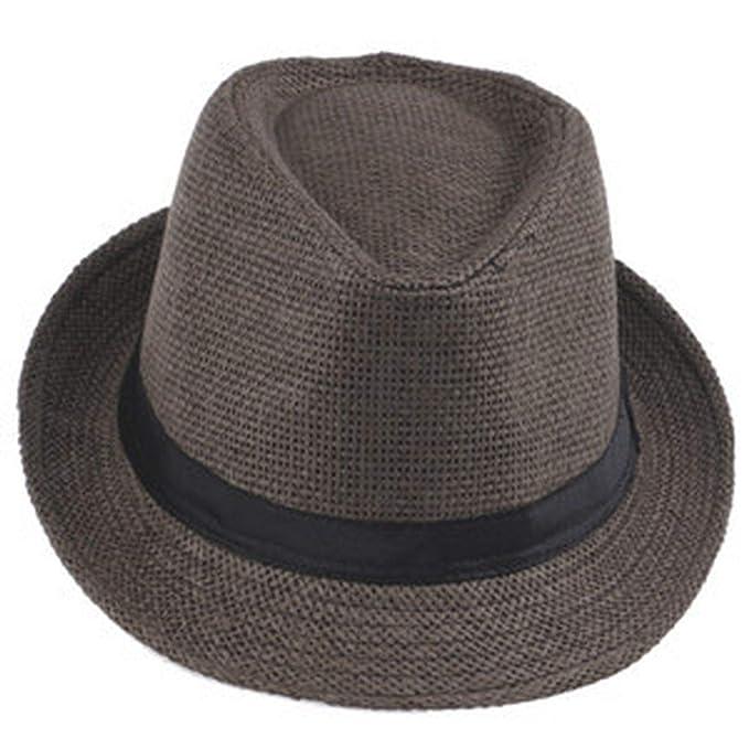 6494dc6a28 Panama Hat Fashion Women Men Unisex Fedora Trilby Gangster Cap ...