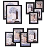 Kalayam Works Picture Frames Set of 10 Frames with Glass Front - Two 8x10 Inches in, Four 5x7 Inches in, Four 4x6 Inches (101/10)