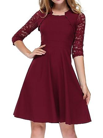 Kleid weinrot mit spitze
