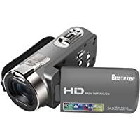 """Camera Camcorders, HD 720P 16MP 16X Digital Zoom Video Camcorder with 2.7"""" LCD and 270 Degree Rotation Screen"""
