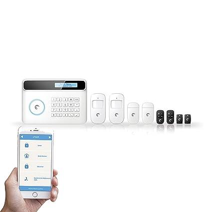 eTIGER S4-C Alarma de Seguridad, 240 V, Blanco