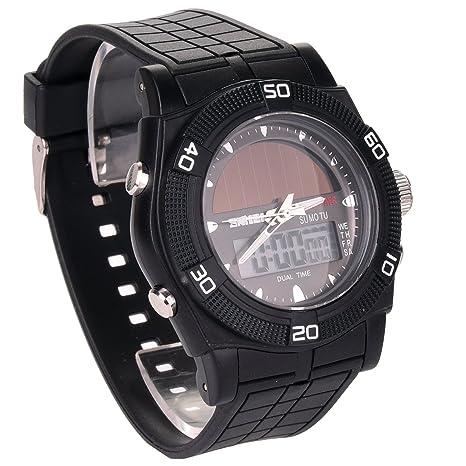 Amazon.com: Relojes para hombre Solar, jige Deportes Reloj ...