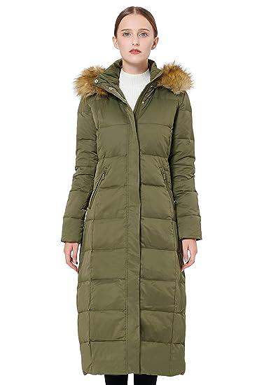 ca85137b70f Orolay Women's Maxi Puffer Down Coat with Faux Fur Hood