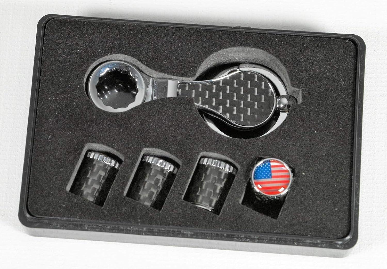 Carbon Ventilkappen mit Diebschutz f/ür US Autos America USA