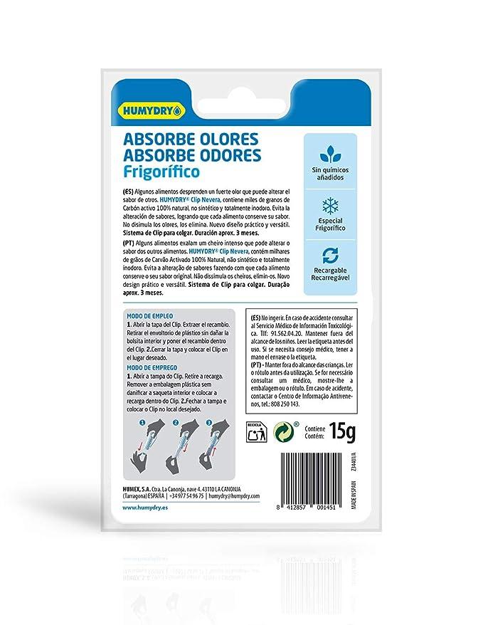 Clip Absorbe olores para la Nevera: Amazon.es: Hogar