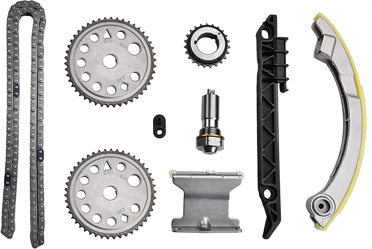 ADIGARAUTO 94201S Timing Chain Kit Tensioner Guide Rail Crank Sprocket Shaft Sprocket Replacement Compatible With Chevrolet Malibu 8-13 Equinox 10-15 Buick L4 2.0L 2.2L 2.4L