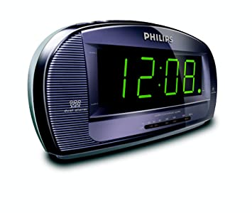 Philips AJ3540/12 - Radio (Reloj, FM,MW, LED, Giratorio