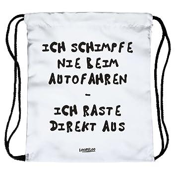 Autofahrer Ausraster Beutel Turnbeutel Loomiloo Tasche Sportbeutel Quote Statement Slogan Quote Hipster Bag Gym Sack Instagram Fashion Spruch