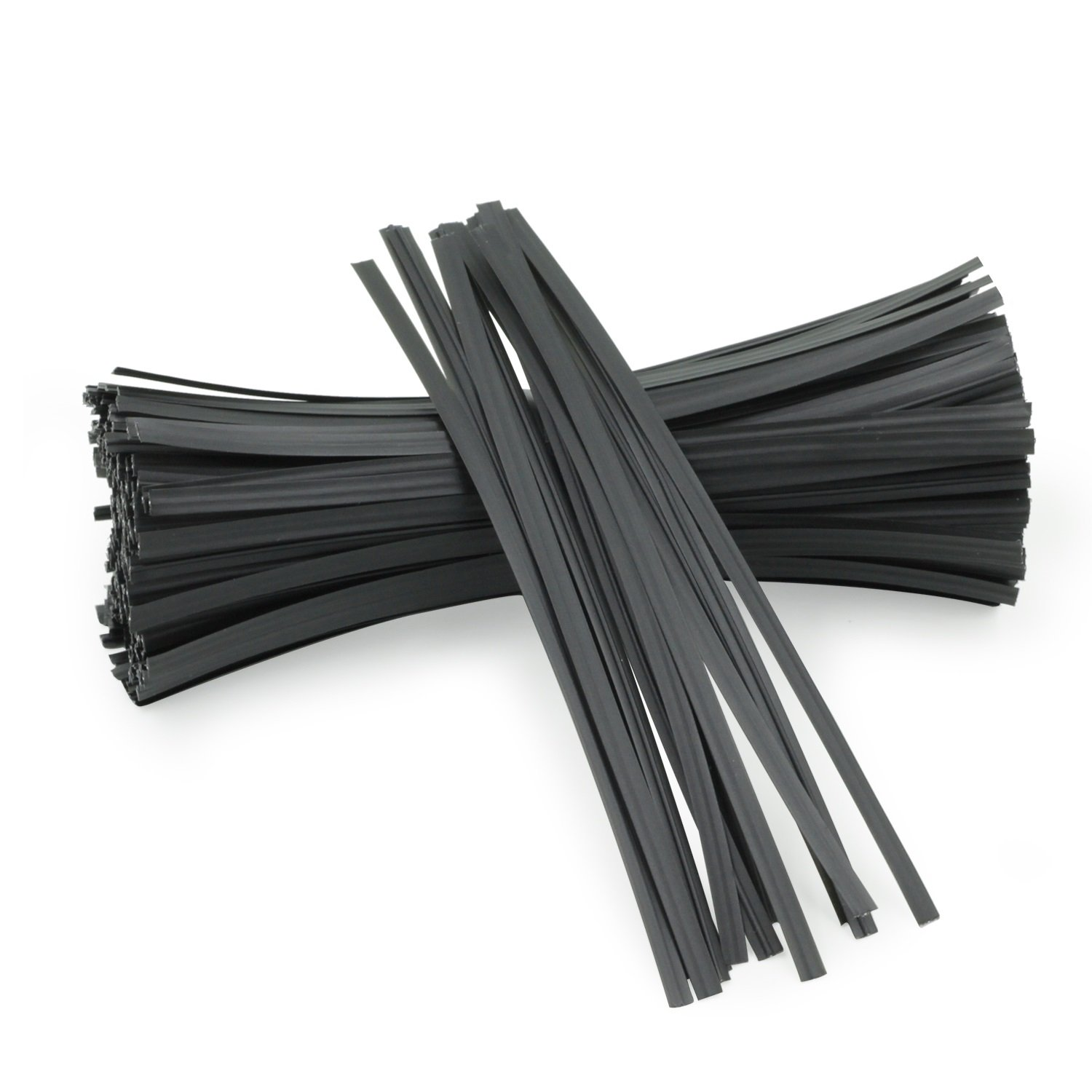Easytle 5'' Plastic Black Twist Ties/Twist Tie/Cable Ties/Cable Tie 100 Pcs