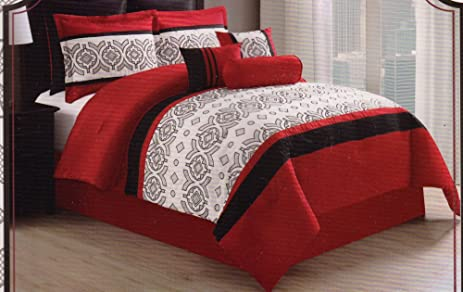 Cordova Collection Embroidered Comforter Set   King Size