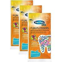 Dentek FUN flossers, 3(Pack de 3x 40unidades)