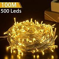 Luz Navidad Exterior LED Impermeable, GlobaLink 100M 500LEDs