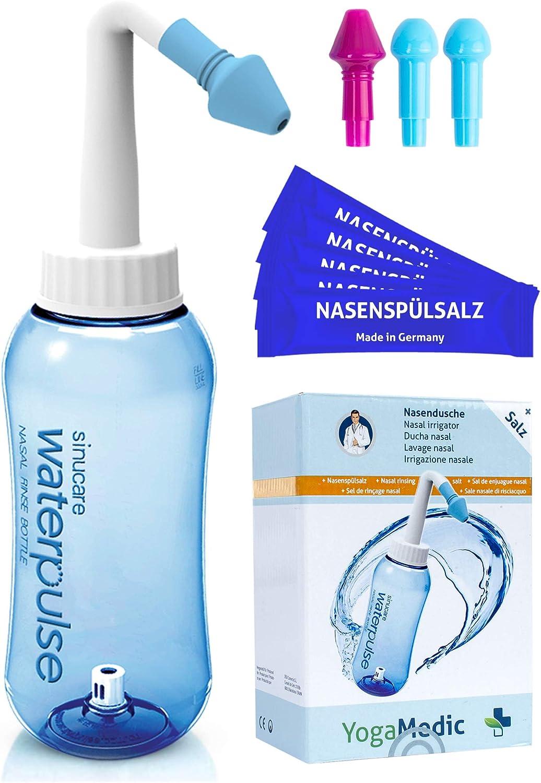 YogaMedic Neti Pot Neti con 30x sachets sal - Limpieza nasal para ...