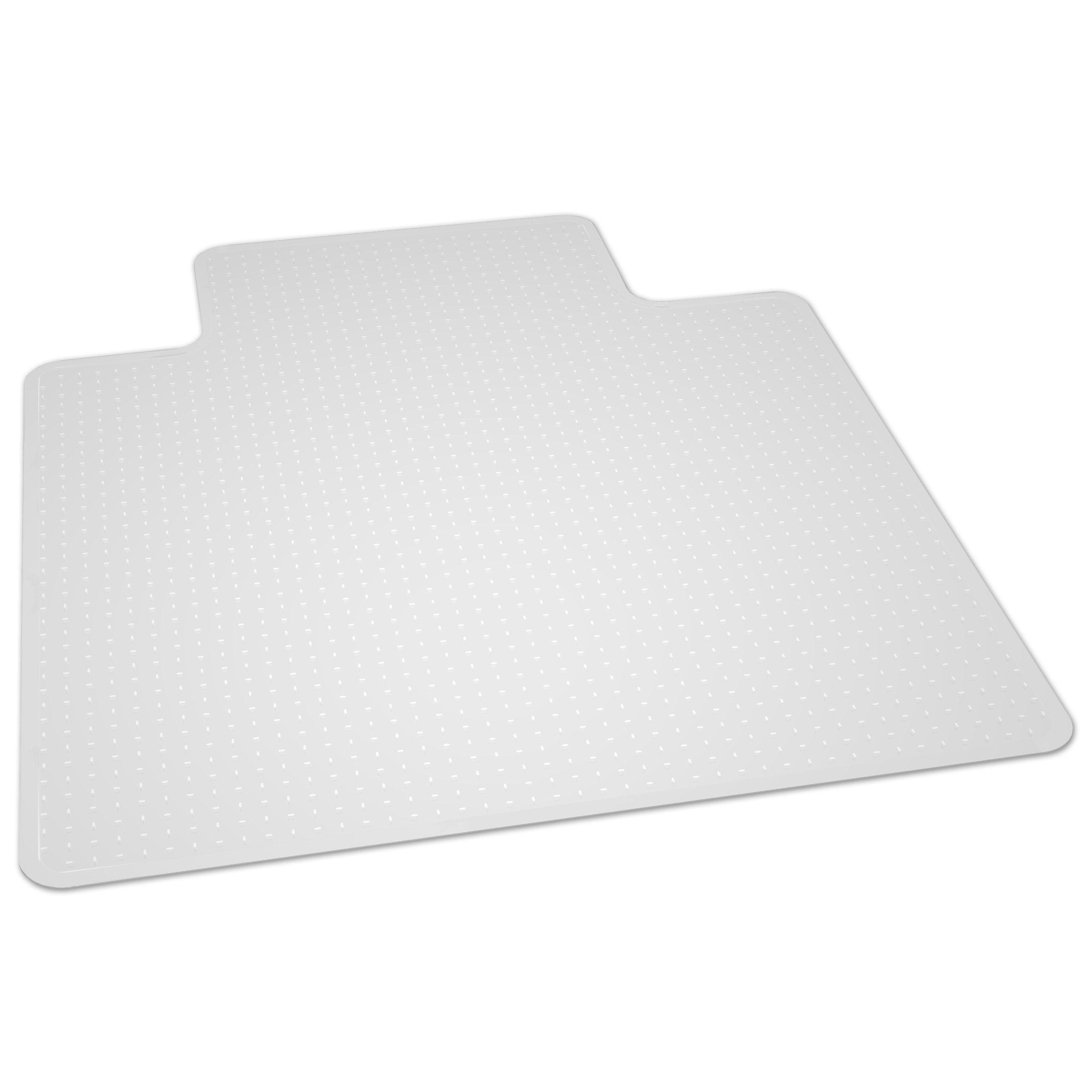ES Robbins Natural Origin Lipped Vinyl Chair Mat for Carpet, 45 by 53-Inch, Clear