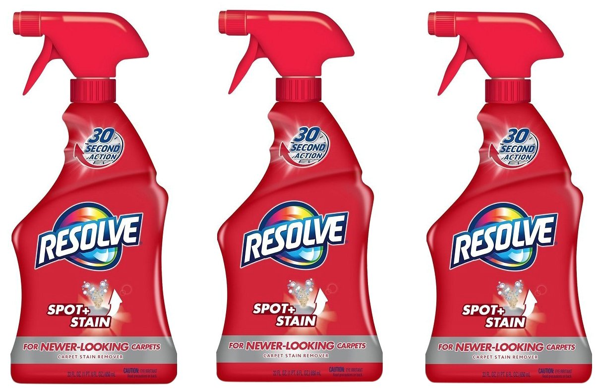 Resolve Carpet Spot & Stain Remover, 22 fl oz Bottle, Carpet Cleaner (Pack of 3) Everready First Aid AX-AY-ABHI-116139