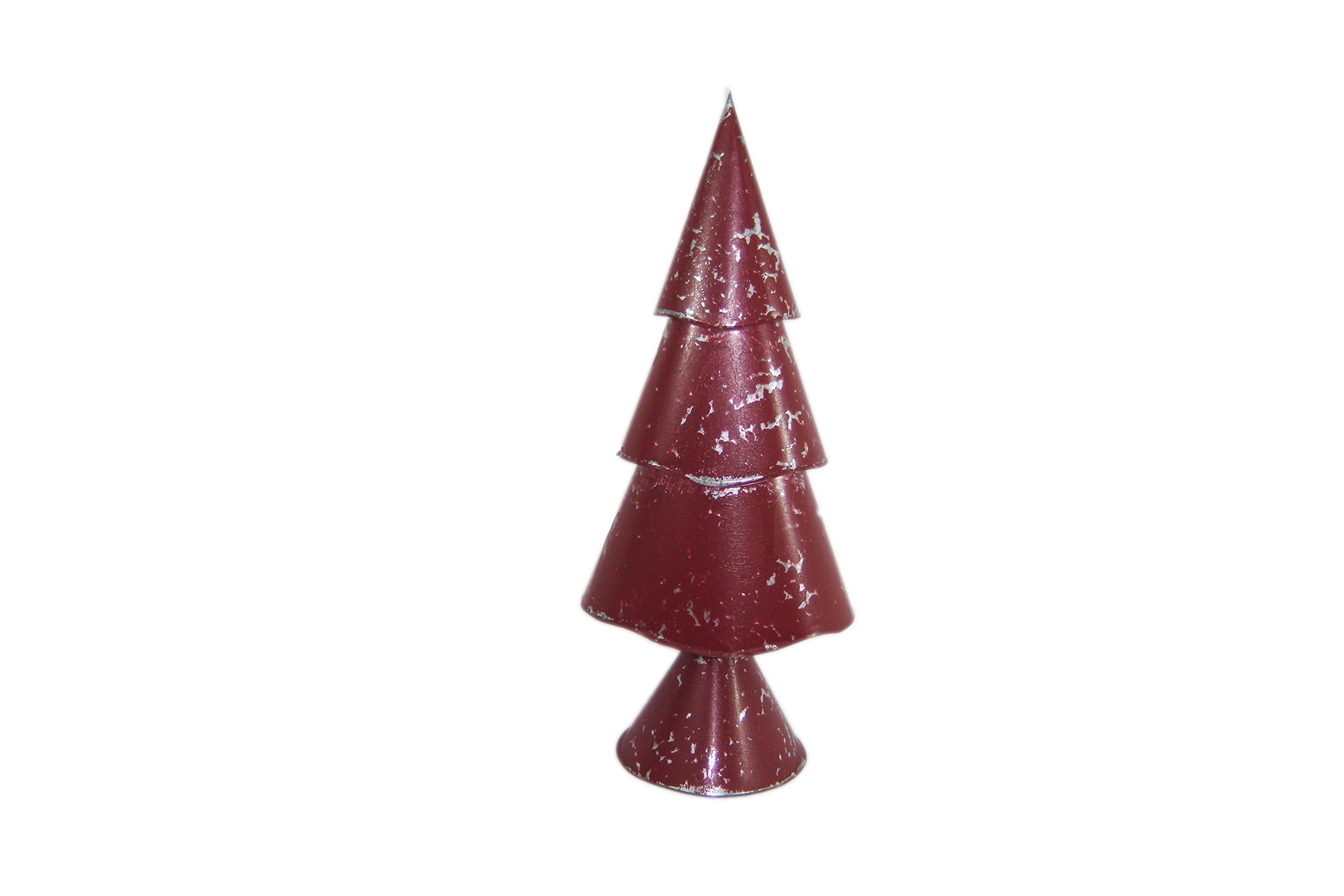 Medium Red Three-Tier Christmas Tree