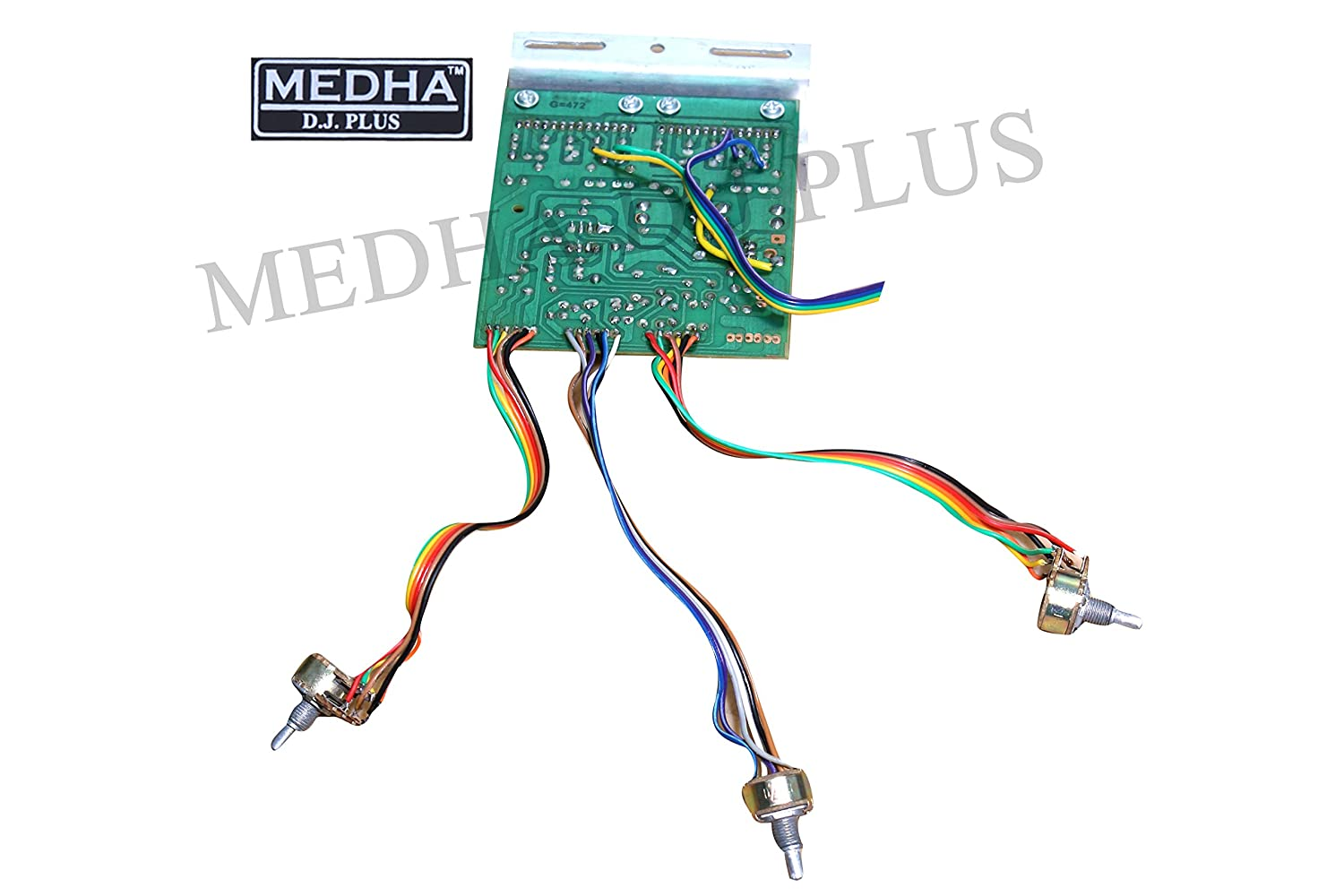 Medha Dj Plus Stereo Audio Amplifier Circuit Kit 100 W Board Bass Free Project Diagram Passive Treble Control For Balance 4440 Ic Musical Instruments