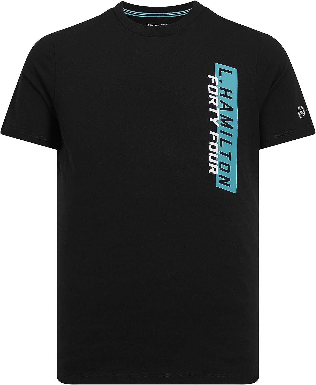 Mercedes-AMG Petronas Motorsport 2019 F1™. Camiseta Negra 44 de Lewis Hamilton: Amazon.es: Deportes y aire libre