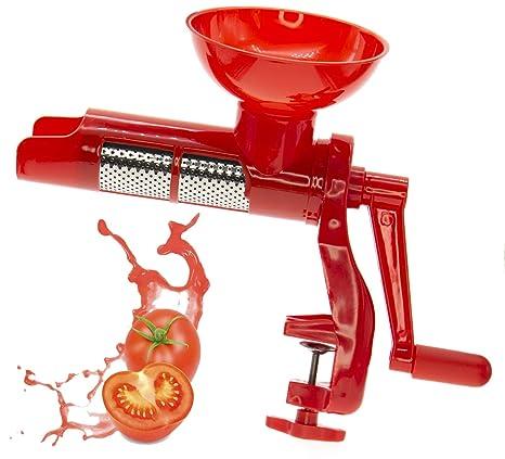 Manivela de tomate roja, Máquina de pasta de tomate, Exprimidor de tomate Pomo Quick