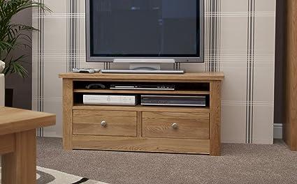 Kingston madera de roble con función de atril mueble para televisor de la unidad: Amazon.es: Hogar