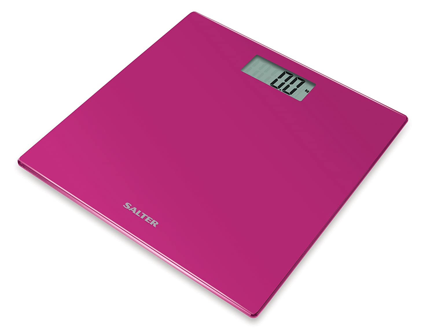 Salter Electronic Bathroom Scales, Toughened Glass Body, Measure Weight Metric / Imperial, Easy to Read Digital Display, Instant Precise Reading with Step-On Feature, 15Yr Guarantee - Union Jack FKA Brands Ltd 9069 UJ3R