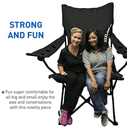 amazon com easygoproducts giant oversized big portable folding rh amazon com Fold Out Chair Beds Folding Chairs