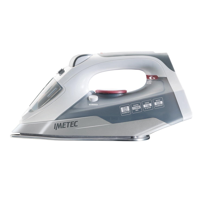 Imetec Zerocalc Pro 2200 Ferro da Stiro a Vapore ad Alte Prestazioni, Piastra in Acciaio Inossidabile da 2200 W, Tecnologia Anticalcare, Tecnologia a Risparmio Energetico Tenacta Group S.p.A. 9004
