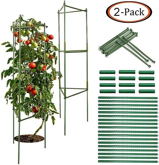 CZNDY 2pcs Apoyo para Plantas, Soporte para Jaula de Jardín, Varillas de Apoyo para Plantas, Tomatey Planta, Soporte para Plantas trepadoras de jardín, Soporte para Escalada Vegtables, 70.9in/ 180cm: Amazon.es: Jardín