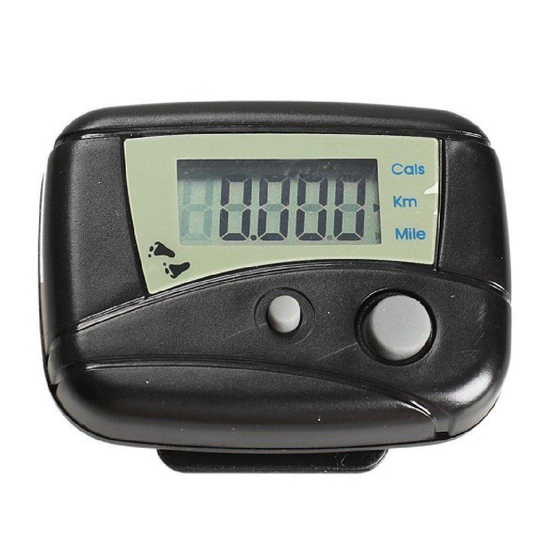 Black Digital Lcd 1Pcs Run Step Movement Run Pedometer Walking Calorie Counter Distance Step Counter