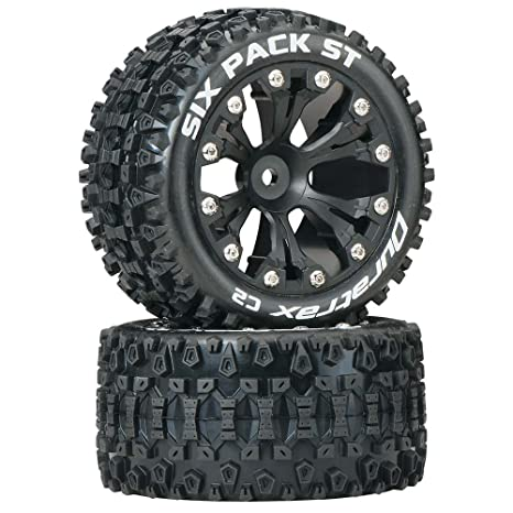 Truck Wheels And Tires >> Amazon Com Duratrax Dtxc3560 Six Pack Rc Staduim Truck Tires With