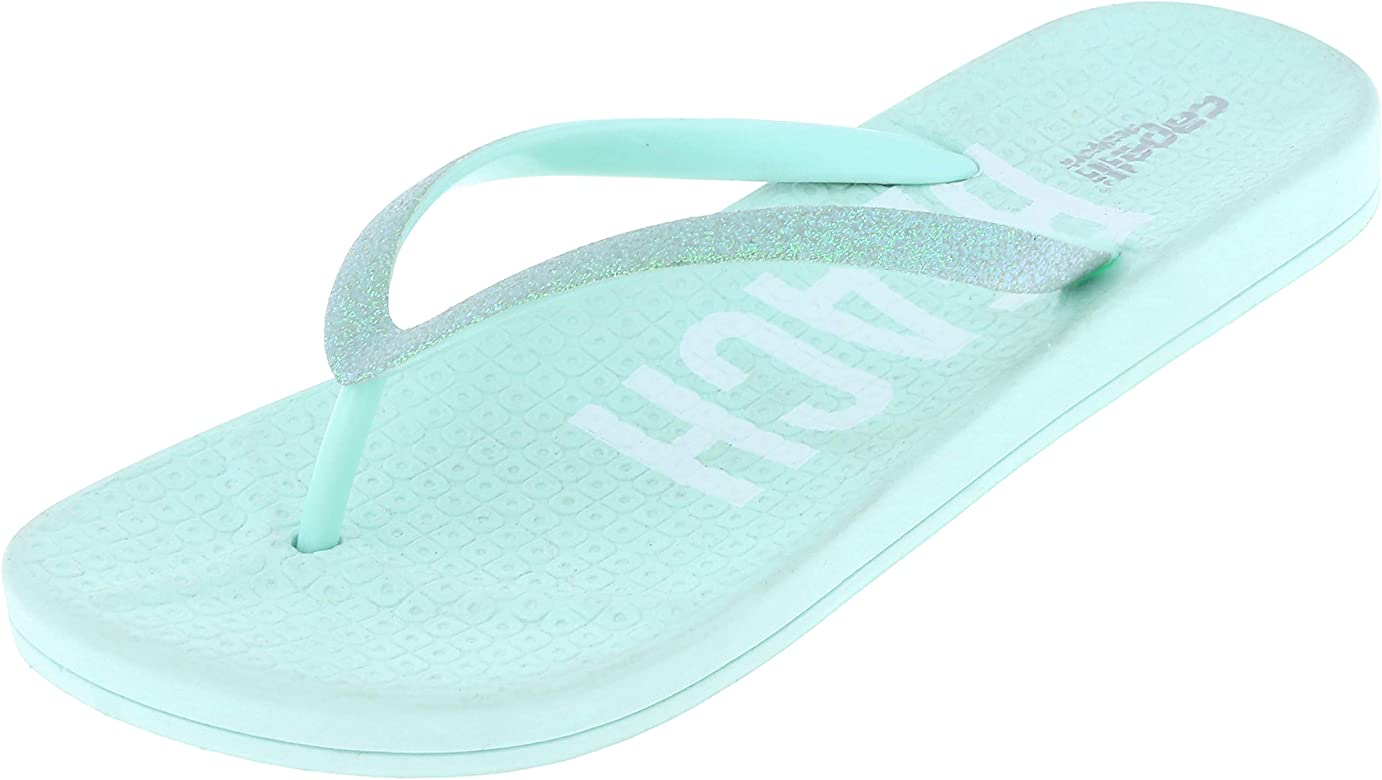 official photos 32e0f 11053 Ladies Glitter Faux Leather Jelly Flip Flops