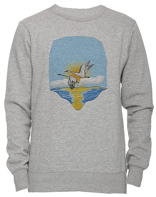 Volador Gansos Unisexo Hombre Mujer Sudadera Jersey Pullover Gris Tamaño S Unisex Mens Womens Jumper Sweatshirt