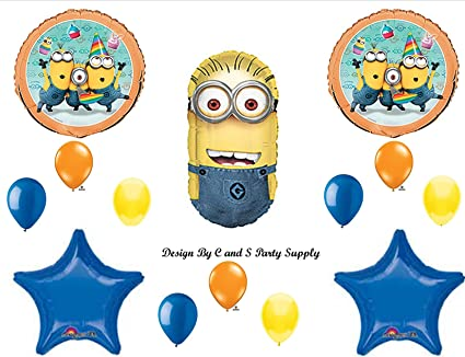 DESPICABLE ME 2 MINIONS BLUE Happy Birthday PARTY Balloons Decorations Supplies by Anagram