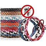 Daaseefee Mückenschutz Armband 12Stilvolle Leder Bands, lang Schutz gegen Mücken und Insekten Handgelenk Bands für Kinder, Babys, Erwachsene, Herren und Damen deet-free, 12 Pack