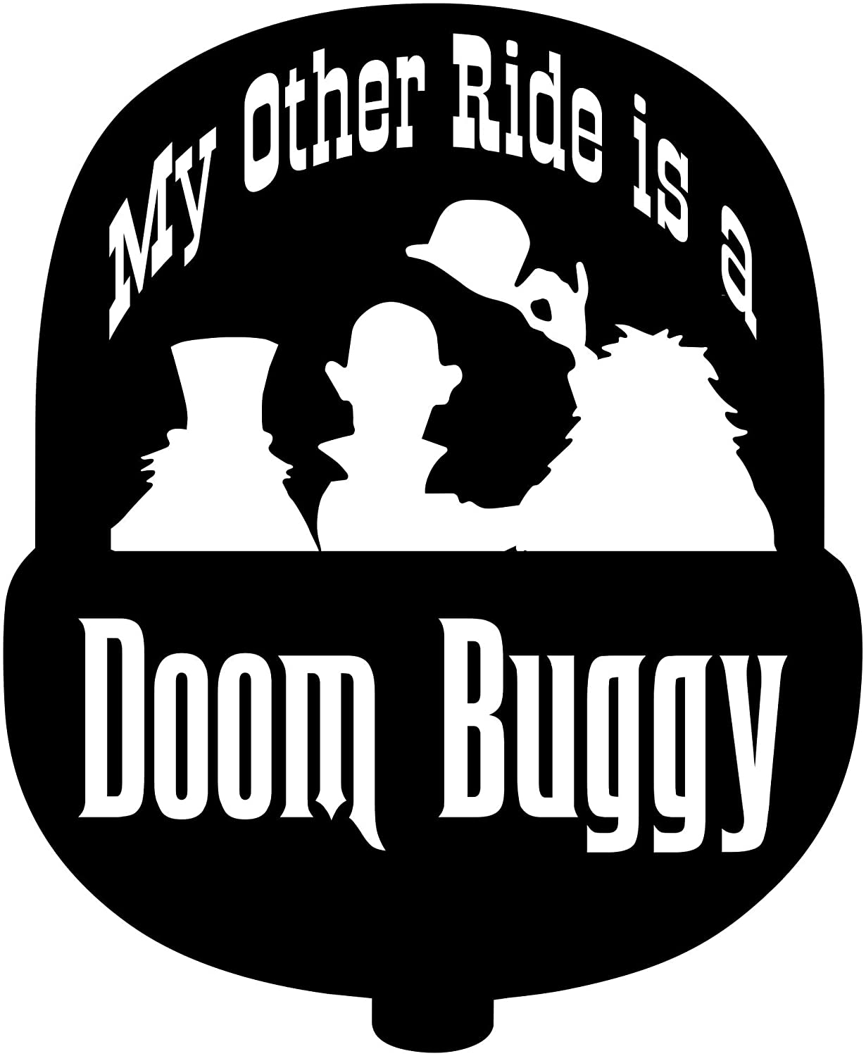 Available in Multiple Color Choices Haunted Haunted Mansion WDW Hitchhiking Ghosts Doombuggy decal