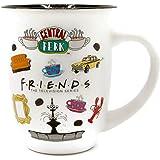Silver Buffalo Friends Logo Icon Toss Wide Rim Ceramic Mug, 16-Ounce, White